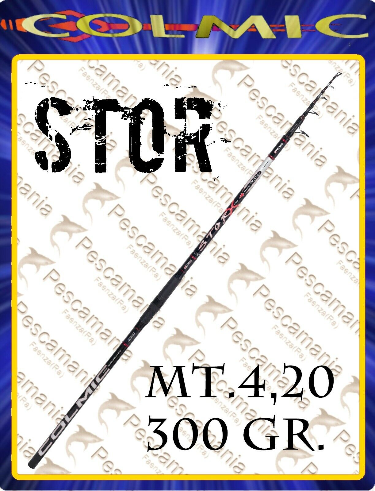 Canna Colmic Stor bolognese casting mt 4.20 gr 300 carbonio Storione, siluro