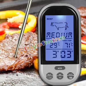 Digital-LCD-de-cuisson-Sonde-Viande-Cuisine-Thermometre-Capteur-barbecue-NOUVEAU