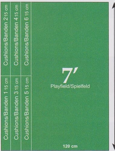 """Pool Billard Tuch Billardtuch /"""" Simonis 760 /"""" für 7 ft Billardtisch inkl Banden"""