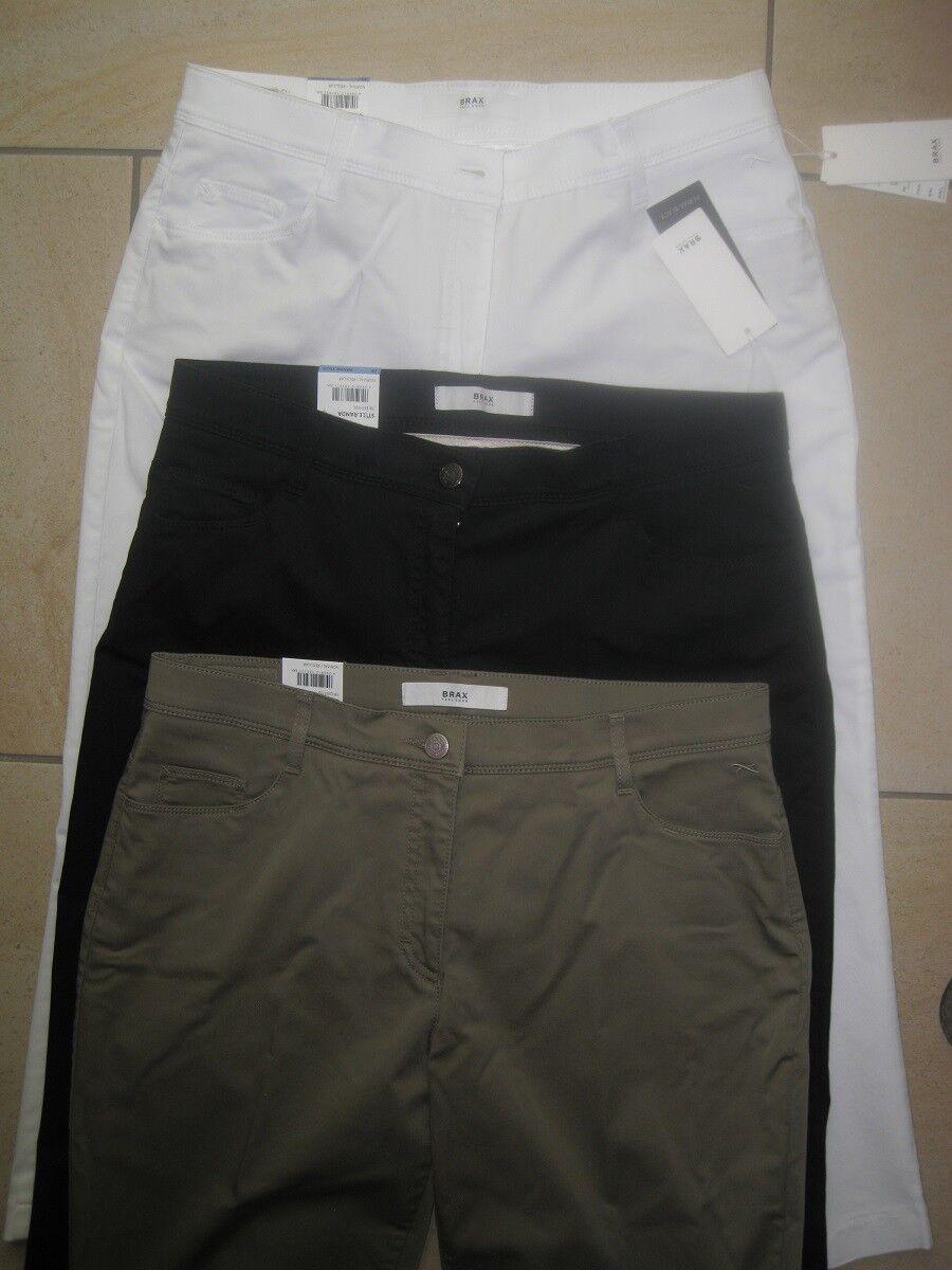 BRAX Jeans 6 8 Damen Caprihose  Randa  schwarz, weiß, oliv    NEU