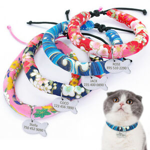 Cute-Floral-Kitten-Cat-Collar-with-Personalized-ID-Tag-Engrave-Kitty-Name-Rope