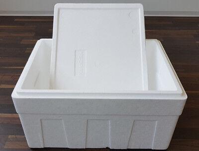 GemäßIgt Styroporbox Isolierbox Kühlbox Thermobox 600x450x370 Mm, Ca. 50l Mit Karton