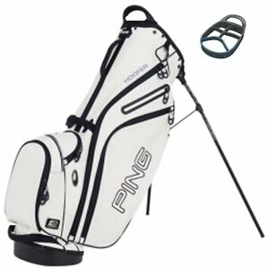 Karsten-PING-Golf-2013-Hoofer-Carry-Stand-Bag-White-with-Black-Trim