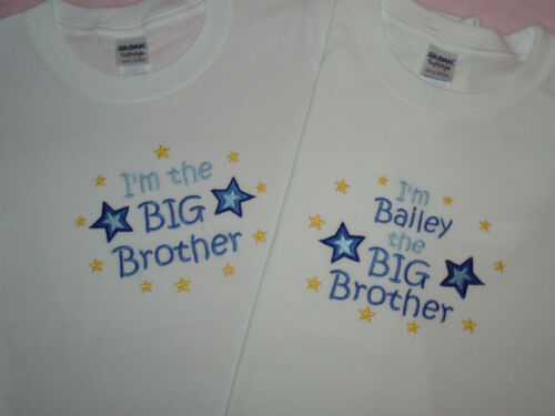 Sister T-shirt can be personalised or  I/'m going to be a Big Little Brother