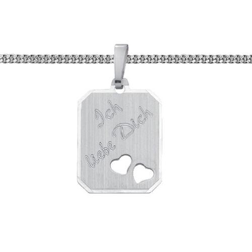 1 socios angulares grabado disco corazón colgante te quiero con cadena de plata