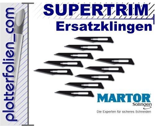 10 Ersatzklingen Martor Supertrim Skalpellmesser inkl