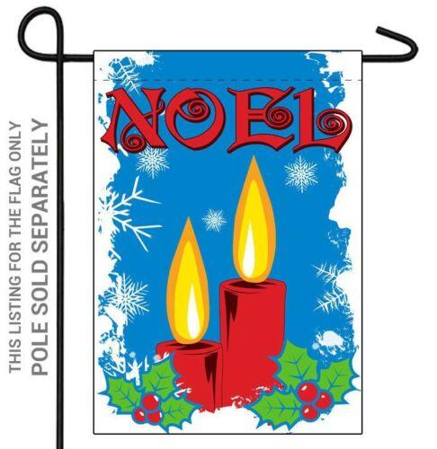 """BANNER FLAG 12/""""X18/"""" SLEEVED POLYESTER CHRISTMAS HOLIDAY/"""" NOEL/"""" GARDEN HOUSE"""