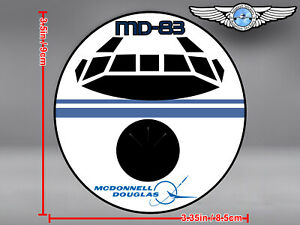 MCDONNELL-DOUGLAS-MD83-MD83-MD-83-FRONT-VIEW-DECAL-STICKER
