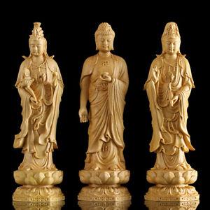 Pcs yueqing boxwood carving wood guanyin bodhisattva buddha