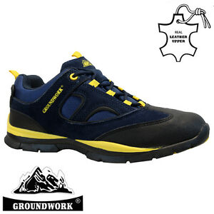 MENS-GROUNDWORK-LEATHER-SAFETY-WORK-BOOT-STEEL-TOE-CAP-SHOES-TRAINER-HIKER-SIZE