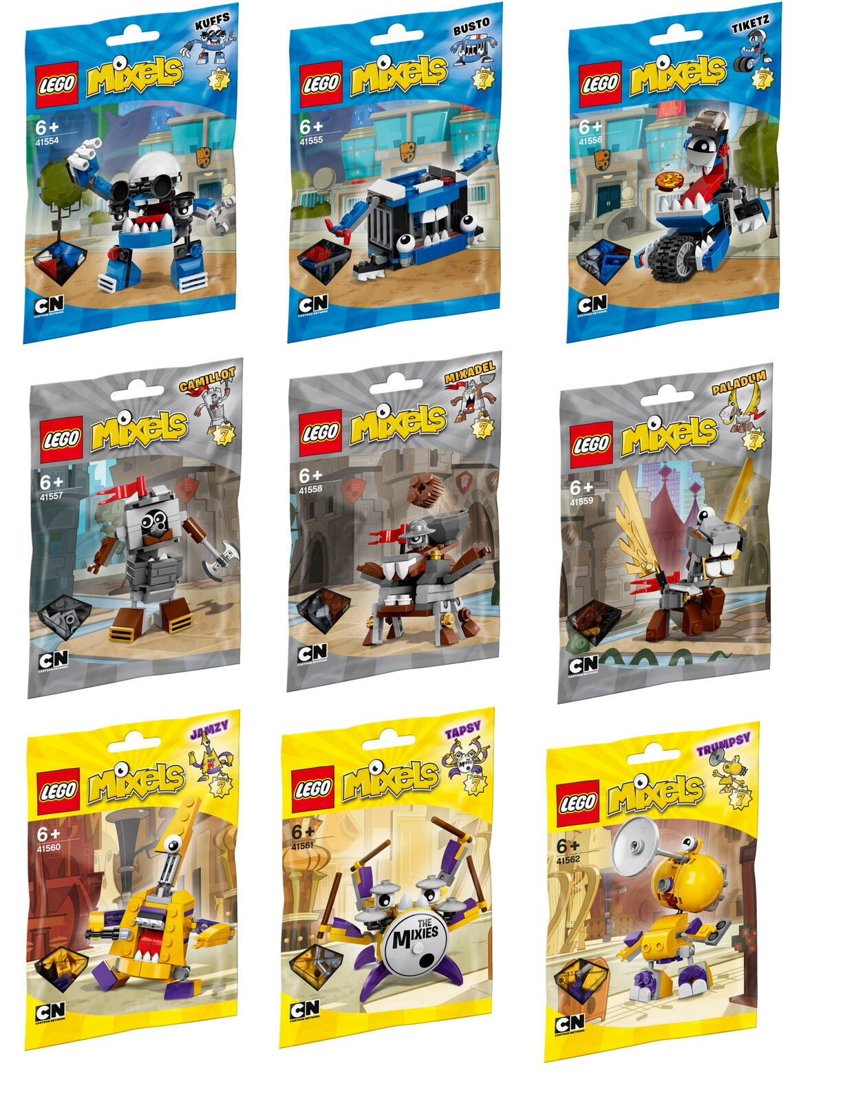 Alle LEGO Mixels Serie 7 - 41554 41555 41556 41557 41558 41559 41560 41561 41562