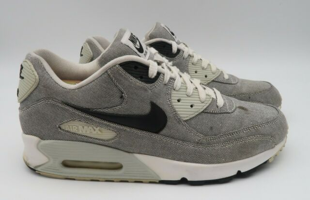 Nike Air Max 90 Premium- Mens- Size 12- Sail- Grey- [700155-100]- Running  Shoes