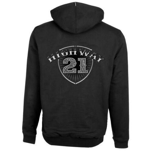 Highway 21 Mens XL Hoody Black Logo Armored Back Shoulders 489-1171X Elbows  HB