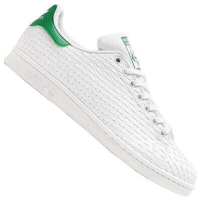 Adidas Original Stan Smith Baskets Tissé Chaussures de Sport Vert Blanc BB1468 | eBay