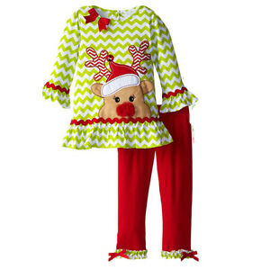 6da25f37e 2PCS Toddler Baby Girls Christmas Outfits tops+pants Kids Clothes ...