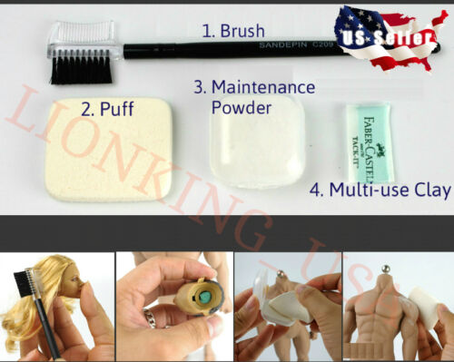 Maintenance Powder Set For Phicen Hot Toys Jodoll Seamless Female Male Body USA