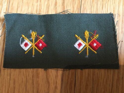 Vietnam Era Officers' Collar Badge Insignia Signal Corps Patch