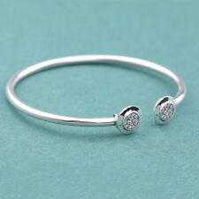 6x104-925 Sterling Silver Bracelet High-polished Women Aaa Grade Cz Clear A874-6x104