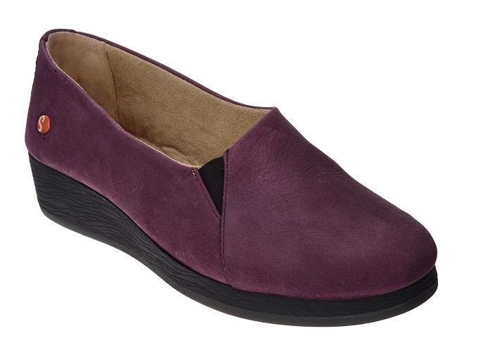 Softinos por Fly London Sin Cordones Cordones Cordones De Cuero Zapatos-AKO Púrpura Para Mujer EU35 US 5 Nuevo  en venta en línea
