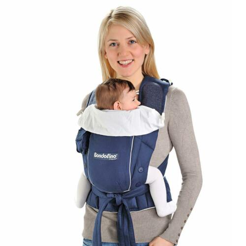 Hoppediz Bondolino Babytrage Komforttrage aus leichter Qualität marine crema