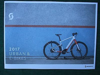 Brand New ~ Scott 2017 Urban & Electric E Bikes Cycle Catalogue