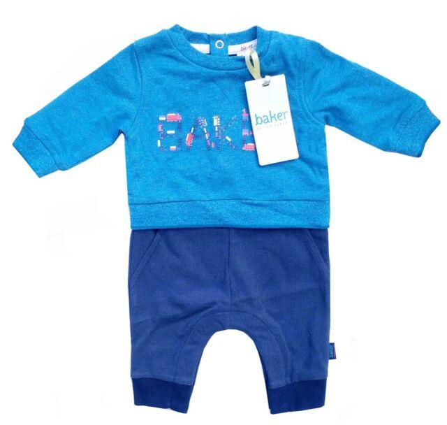 687fe0136a61e3 Ted Baker Baby Boy Romper Sleepsuit Turquoise Blue DESIGNER Newborn ...
