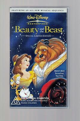 Beauty And The Beast - VHS - Special Limited Edition - Walt Disney Masterpiece