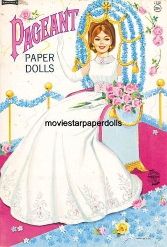 VINTGE UNCUT 1960S PAGEANT PAPER DOLLS HD~LASER ORG SZ REPRODUCTION~LO PR~HI Q
