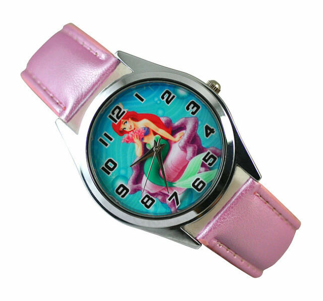 Disney Princess Ariel Little Mermaid Wrist Quartz Fashion Child Girl Watch