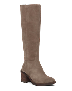 Para Mujer Lucky Brand Ritten Alto Bota De Ancho Pantorrilla gris  NK4G1-M434
