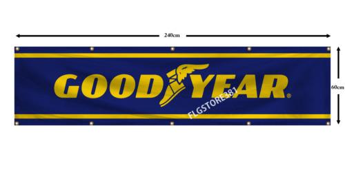 Goodyear Banner 2x8ft Racing Flag Tires Garage shop Man Cave Large Banner