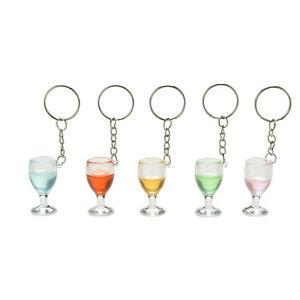 1X-Fake-Wineglass-Key-Chain-Keyring-Creative-Gift-Decoration-Lanyard-Keychain-Jc