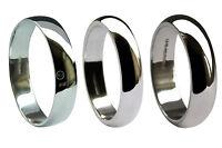 5mm 950 Platinum Wedding Rings D Shaped Profile Light Medium Heavy Bands UK HM