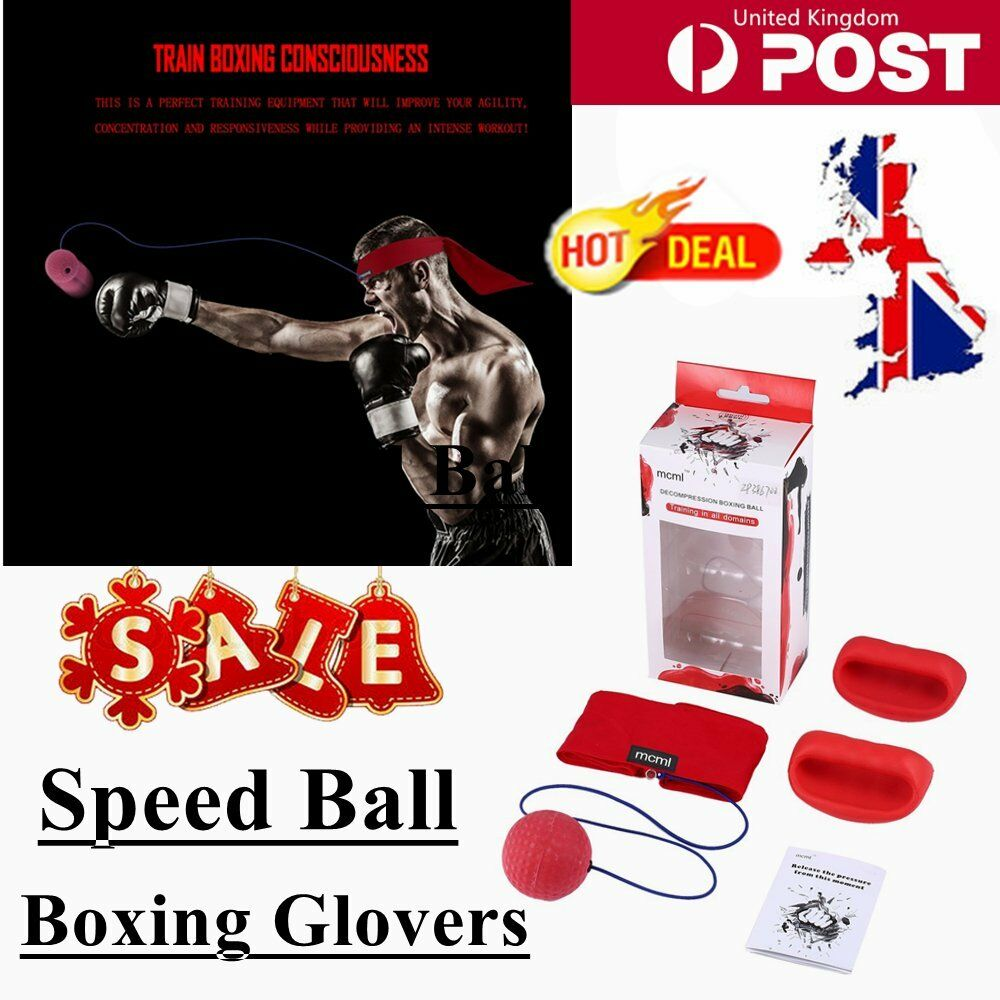 Sport Tennis Boxing Speed Glove Training Speed Boxing Ball Rubberband Training Practice SL 1888f6