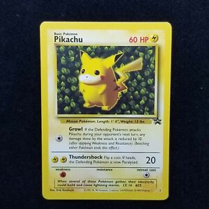 Pokemon TCG Black Star Promo Card 1 Pikachu