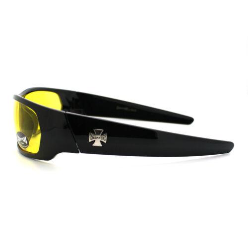 Mens Choppers Sunglasses Sporty Biker Rectangular Wrap Fashion Shades