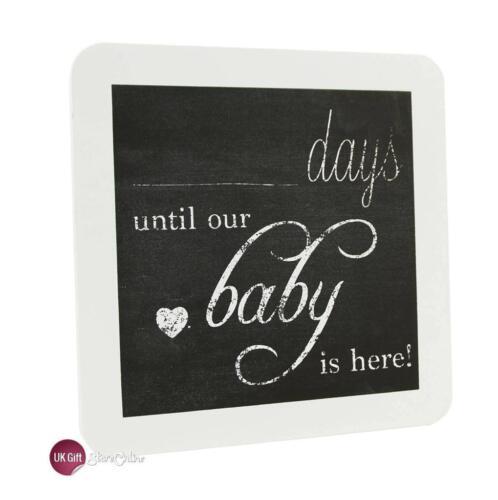 Chic De Cuenta Regresiva Para Bebé Nuevo Embarazo Placa signo bebé ducha regalo bb0049