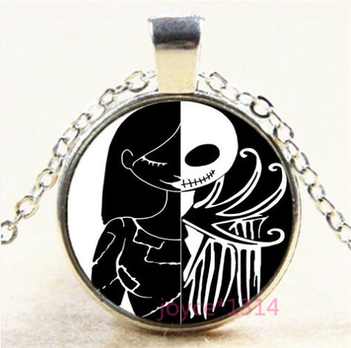 Nightmare Before Christmas Silver//Bronze//Black//Gold Chain Pendant Necklace #7434