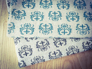 Cross-design-Natural-LINEN-Cotton-Fabric-Price-per-1-2-meter