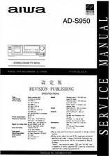 AIWA AD-S950 AD S 950 - SERVICE MANUAL - CASSETTE DECK - via email - pdf format