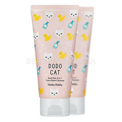 [Holika Holika] Dust Out DODO CAT 3 in 1 Trans-foam Cleanser 120g - BEST