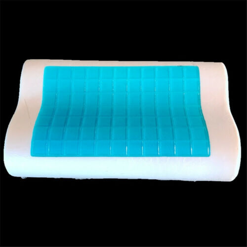 Memory Foam Pillow w// Cooling Gel ~Orthopedic Bed Pillow FLAT(Kid)CONTOUR(Adult)