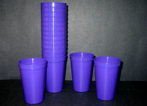 12-12  Oz Purple  Plastic Drinking Glasses Cups Made In USA Lead Free No BPA