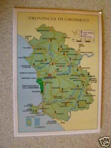Cartina Geografica Della Toscana.Cartolina Toscana Cartina Geografica Ebay