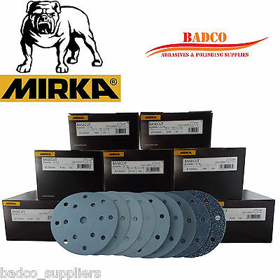 "150mm Sanding Discs / Sandpaper MIRKA Basecut 6"" Velcro Hook and Loop"