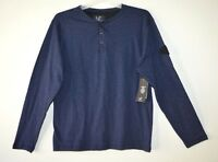 Modern Culture Men's Long Sleeve Henley Shirt Navy Size Large $38