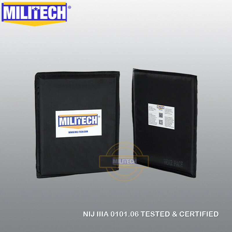 MILITECH NIJ 3A 8X10 Pair Ballistic Bulletinproof Aramid Soft Armor Side Panels