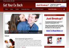 Get Your Ex Back Blog Ready Made Affiliate Website Free Hosting Setup