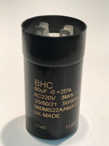 60UF 220V BHC UK MADE avvio del motore di qualità Premium Condensatore ac2c2C