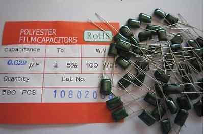 138pcs 30values Polyester Film Capacitor Assorted Kit Assortment Set